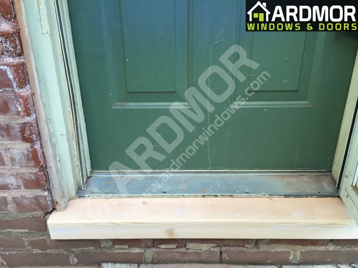 Door_Sill_Repair_in_Toms_River_NJ_in_process