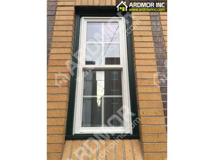 Double Hung Window Install with PVC Trim in Jackson NJ